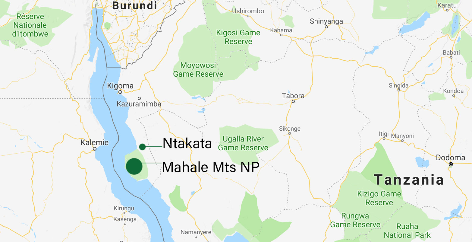 Ntakata and Mahale map